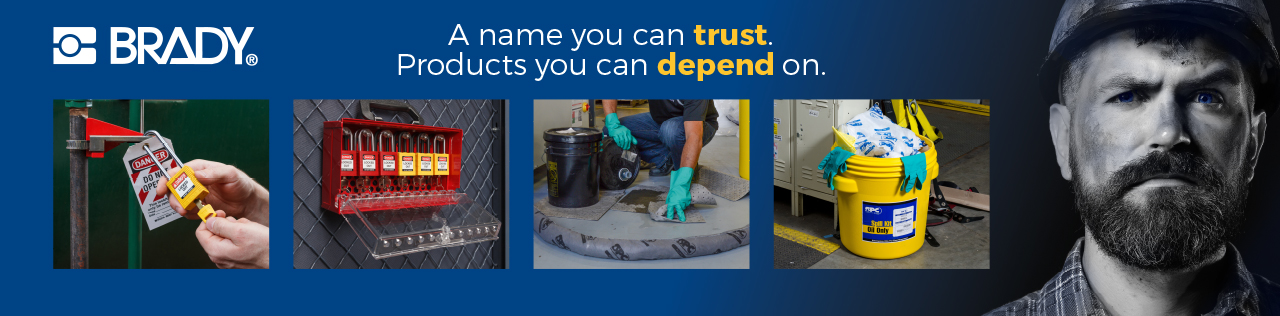 Brady. A name you can trust. Products you can depend on.