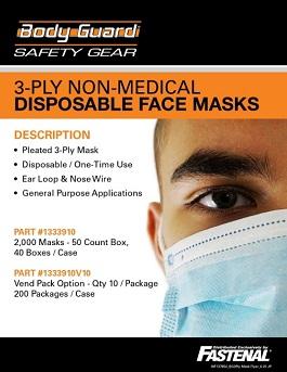 Body Guard 3 Ply Mask Promotion