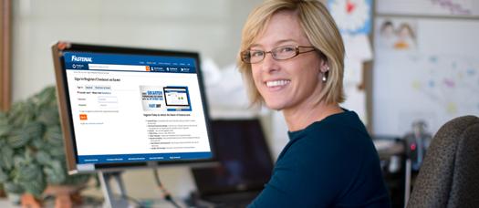 Woman on computer too