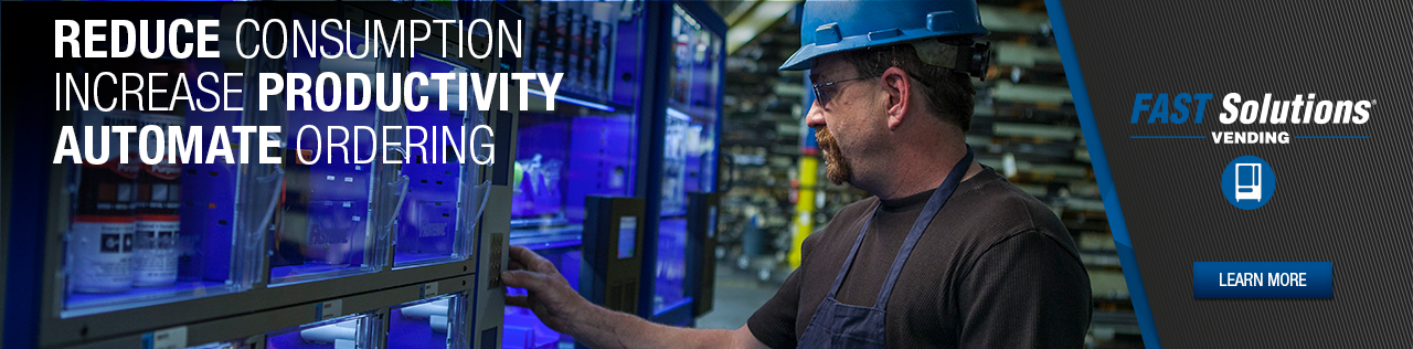 Reduce Consumption. Increase Productivity. Automate Ordering. Learn More About FAST Solutions Vending